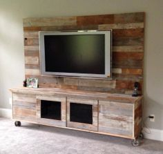 reclaimed wood entertainment center - Google Search | Pallet TV ...