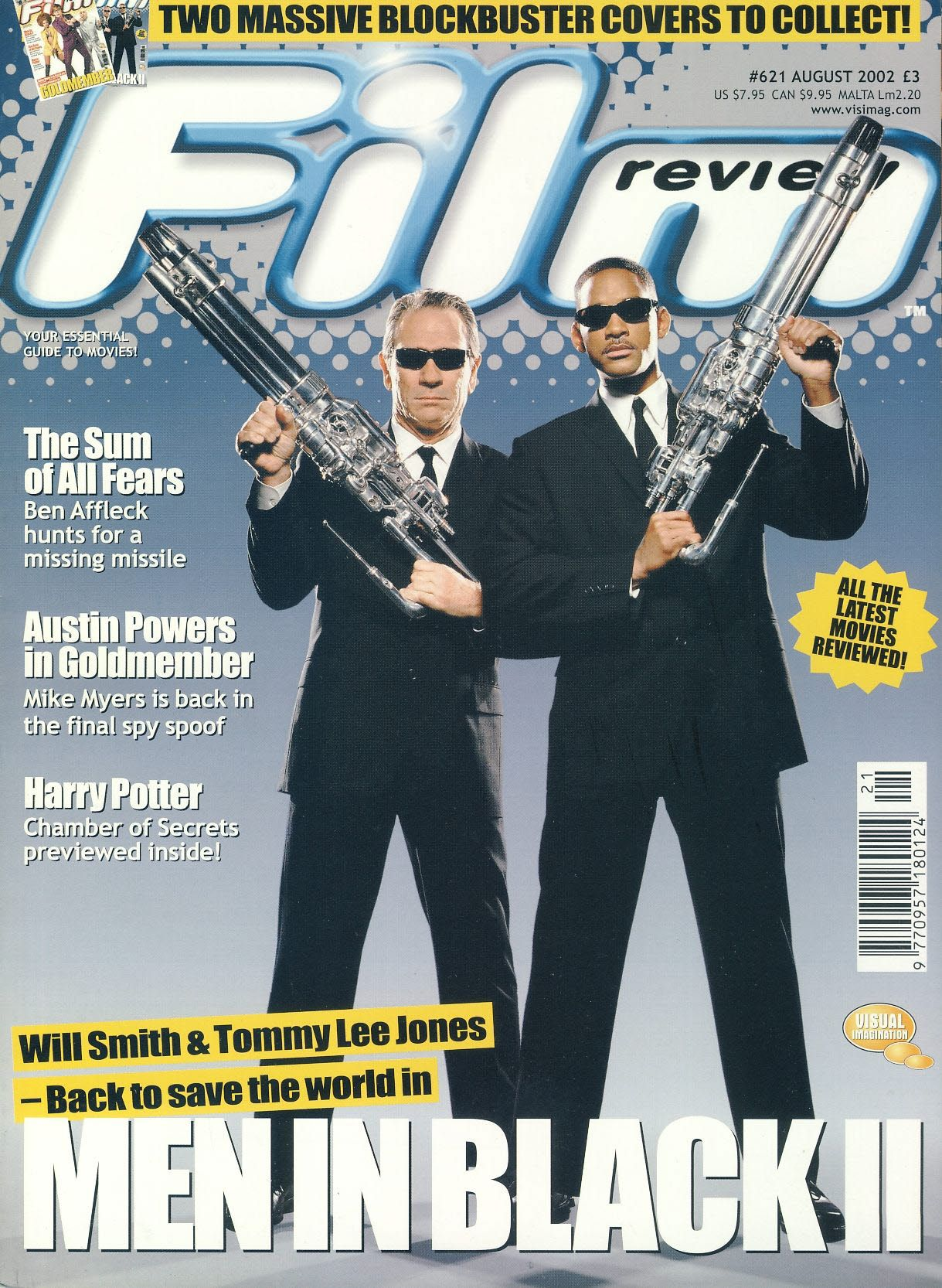 Film Review 621 Men In Black Will Smith Tommy Lee Jones Magazine Ref101018 Tommy Lee Jones Film Review Tommy Lee