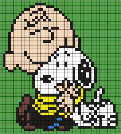 Charlie Brown And Snoopy Perler Bead Art Cross Stitch Patterns