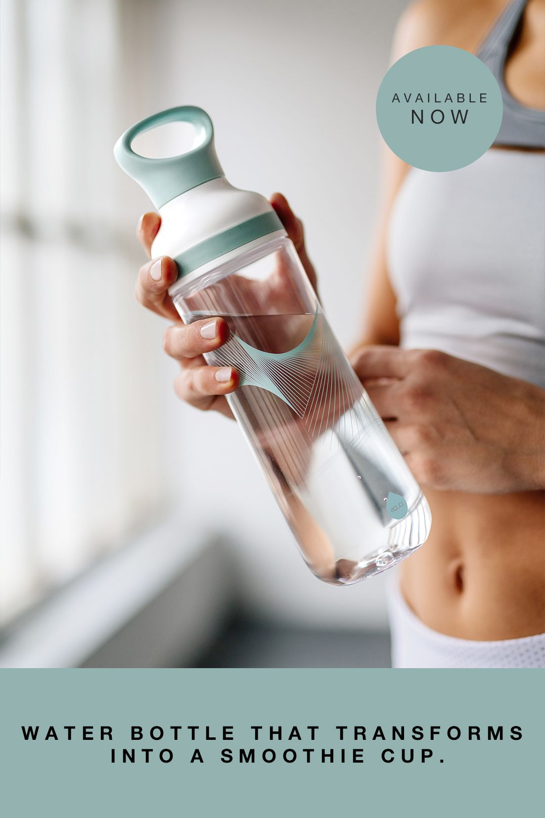 Wave 2 In 1 Water Bottle And Smoothie Cup Pinterest