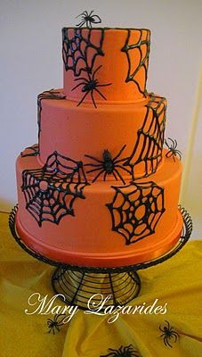 halloween cake I'm thinking about making for Campbell's bday this year #halloweencakes