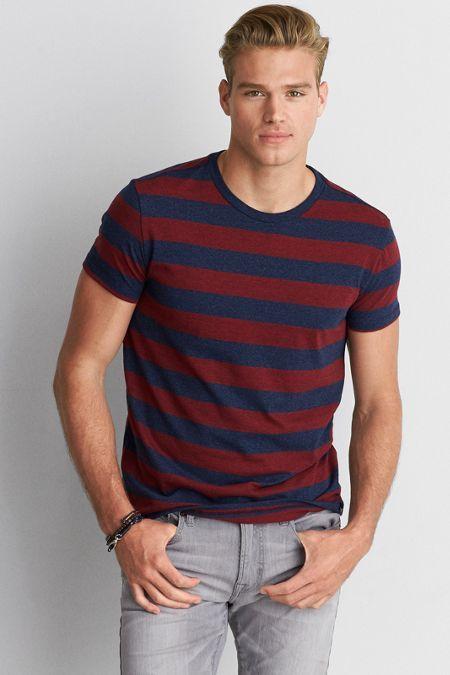 AE Seriously Soft Stripe Crew T-Shirt