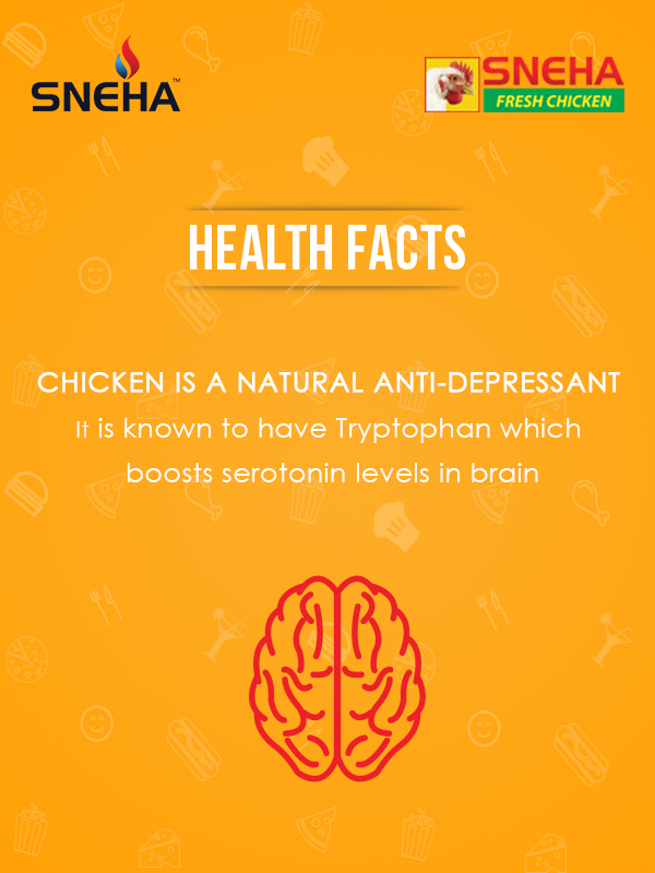 Chicken is a natural #Antidepressant containing the amino acid