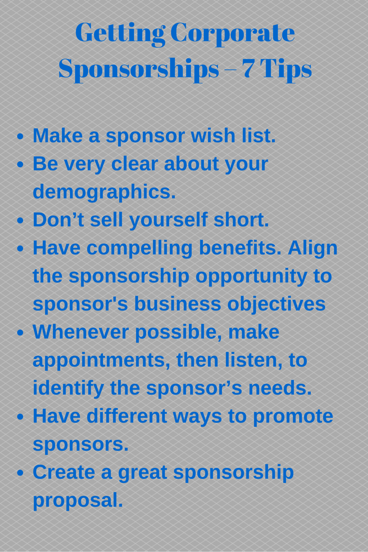 Getting Corporate Sponsorships  Tips To Get You Started