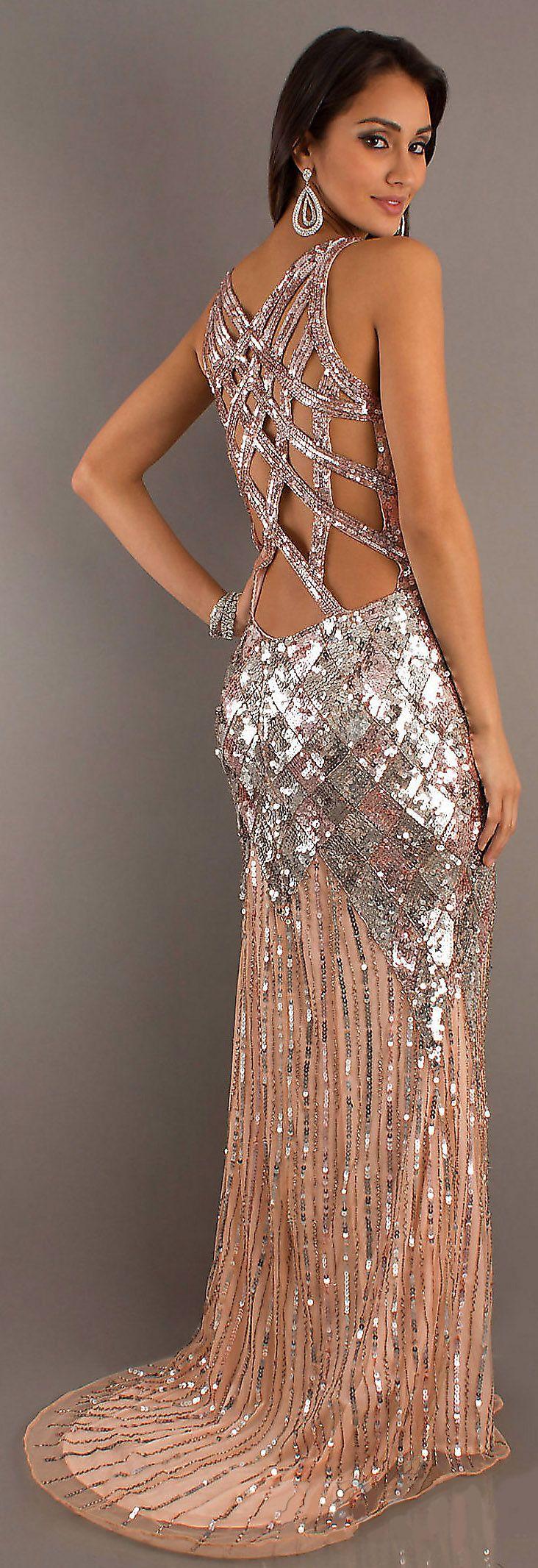 Long vneck sequin formal dress by primavera fashion pinterest