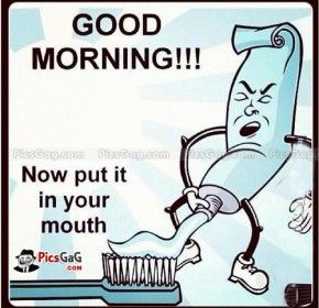 Funny good morning images for him