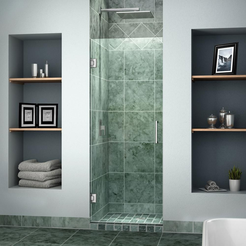 Dreamline Unidoor 23 In X 72 In Frameless Hinged Shower Door In