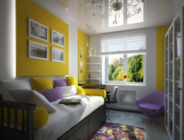 sehr sch ne farbkombination gelb zitrone und flieder. Black Bedroom Furniture Sets. Home Design Ideas