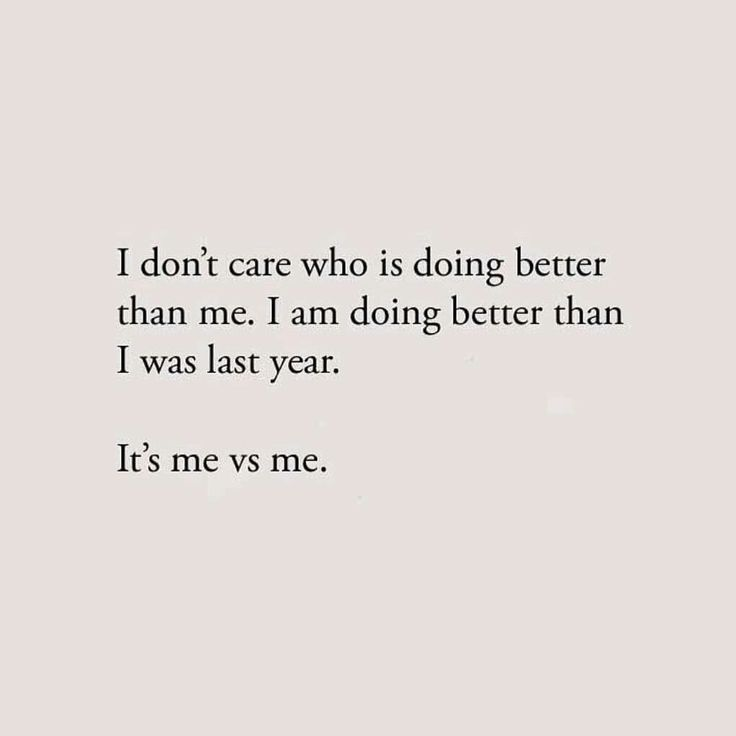 I am doing better than I was last year