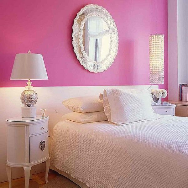 Luxury Pink And Peach  Girl Paint Colors For Rooms For Teens That Can Be Decor With Wooden Floor Can Add The Beauty Inside It Has Modern White Table Lamp That Nice