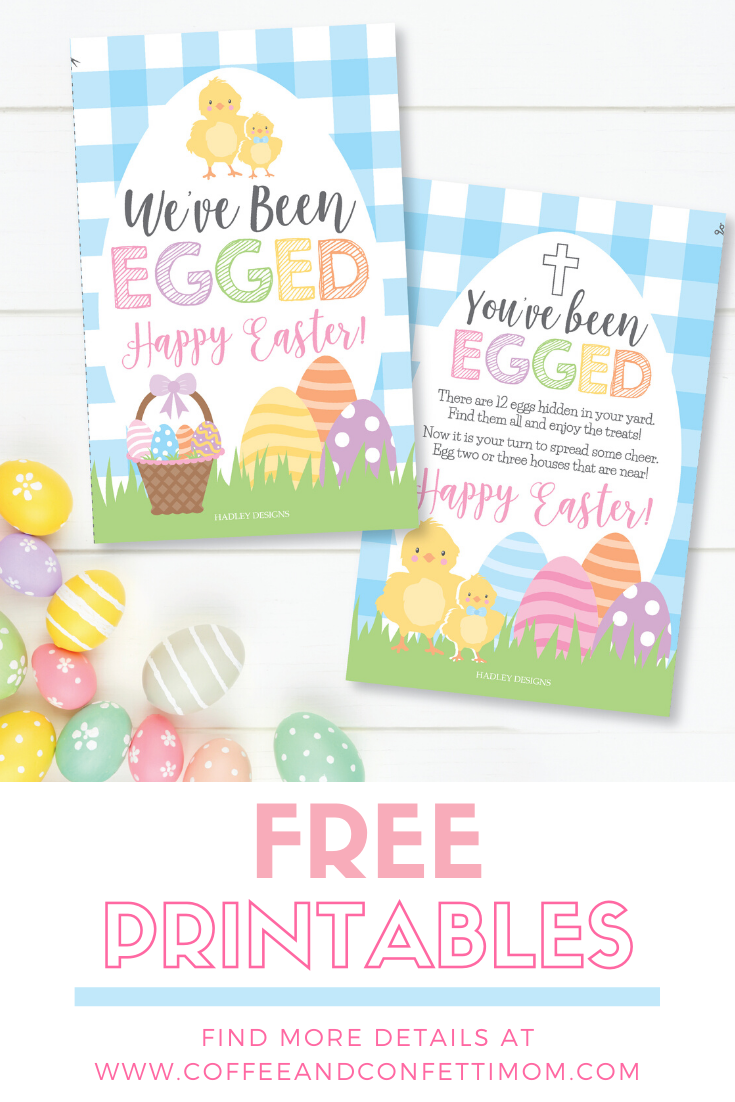 FREE You've Been Egged printables to start this fun Easter