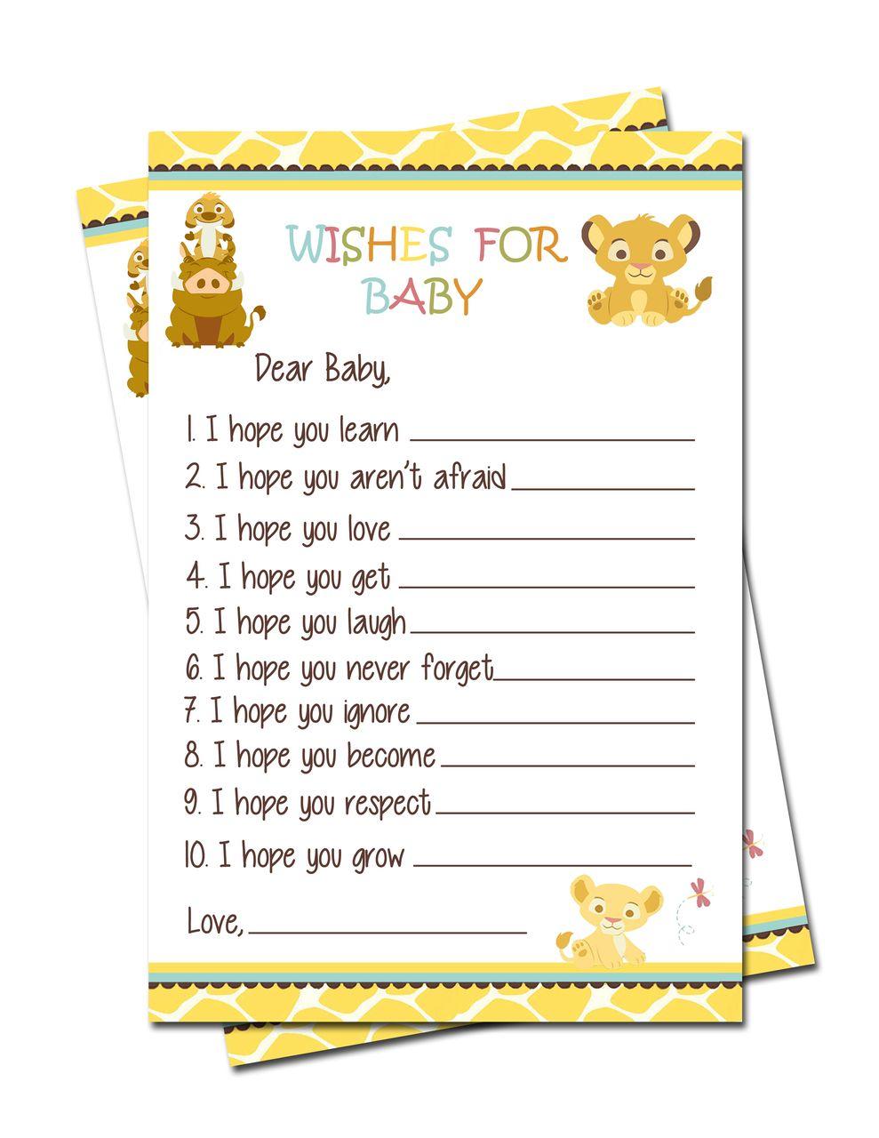 Supreme Baby Games Partyexpressinvitations Simba Lion King Baby Shower Wishes Simba Lion King Baby Shower Wishes Baby Games Lion King Baby Baby Shower Wishes Christian Baby Shower Wishes Template