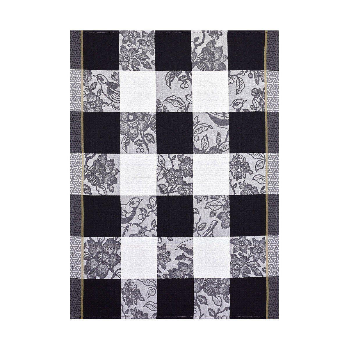 Estampe Chinoise Grey Tea Towel Set Of 4 By Le Jacquard Francais