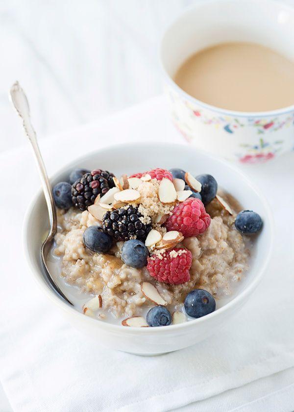 Almond Breeze Slow Cooker Vanilla Spiced Oatmeal Recipe Healthy Oatmeal Breakfast Healthy Oatmeal Breakfast