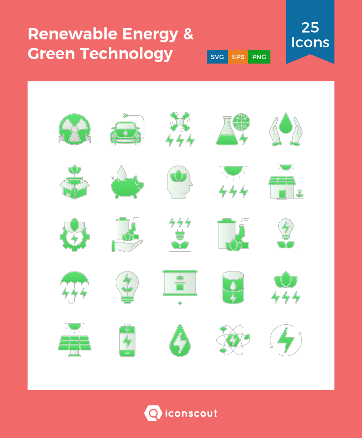 Download Renewable Energy Green Technology Icon Pack Available In Svg Png Eps Ai Icon Fonts Renewable Energy Projects Diy Renewable Energy Green Technology