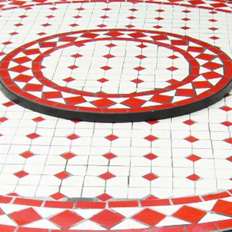 motif de mosaique pour table ovale | Table mosaïque ronde diamètre ...