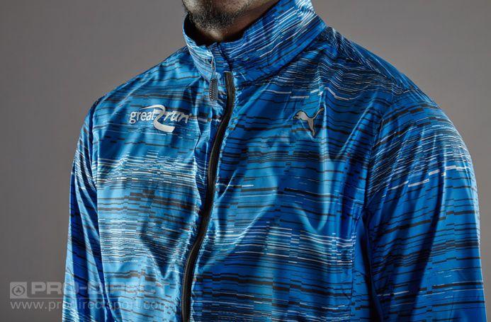 e901b5a073c1 Puma PR Graphic Lightweight Jacket - Strong Blue