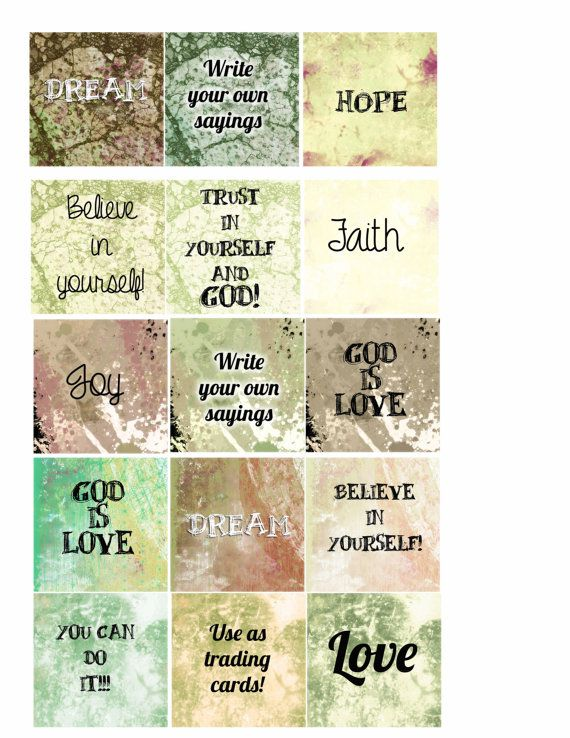 Blank Trading Cards Art Cards Atc Cards Blank Cards Etsy Motivational Quotes For Kids Affirmation Posters Affirmation Cards