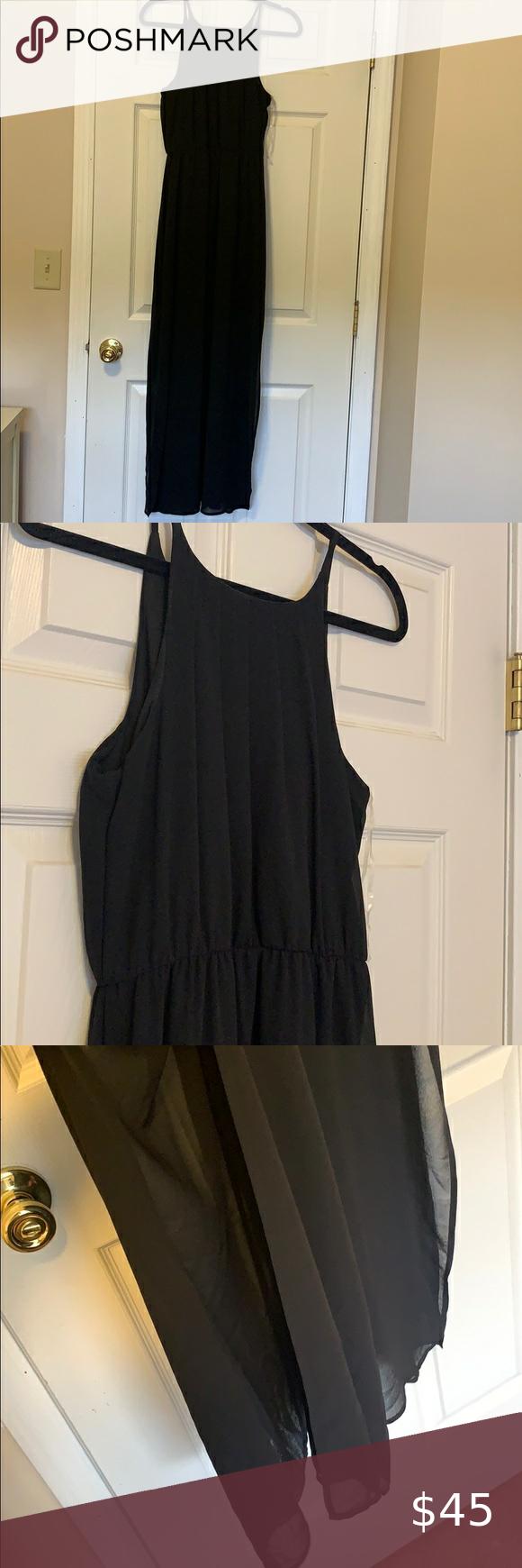 Nwt Francescas Chiffon Black Maxi Dress Black Maxi Dress Maxi Dress Black Maxi [ 1740 x 580 Pixel ]