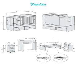 Resultado de imagen para medidas colchon cuna convertible for Medidas estandar de colchones