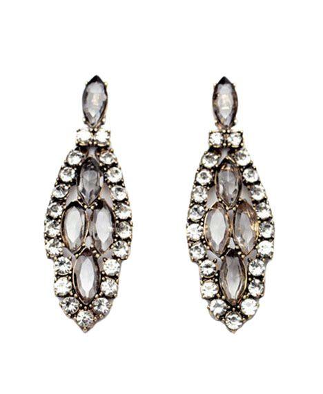 5e833a4fb Vintage Style Leaves Shape Diamante Earrings | shop | Earrings ...