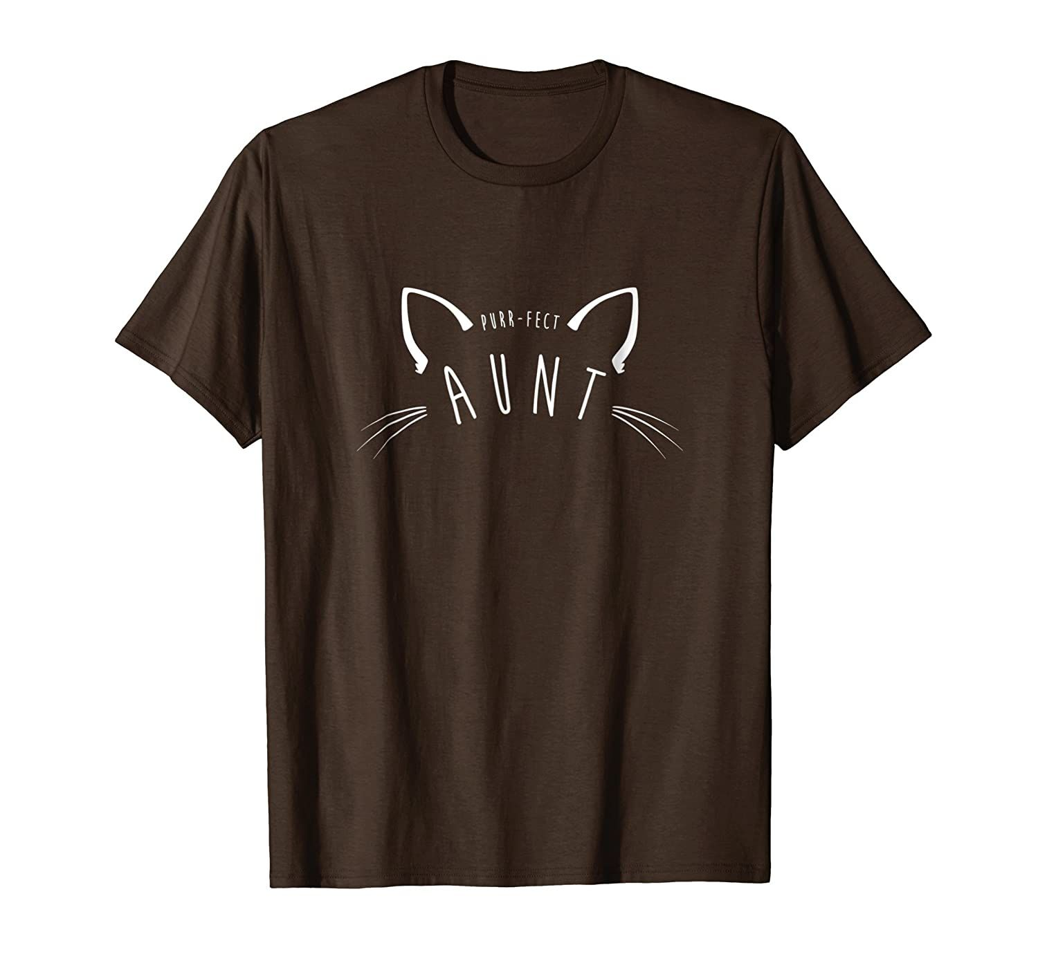 Purr fect Aunt Shirt, Funny Cute Cat Lover Gift-Awarplus