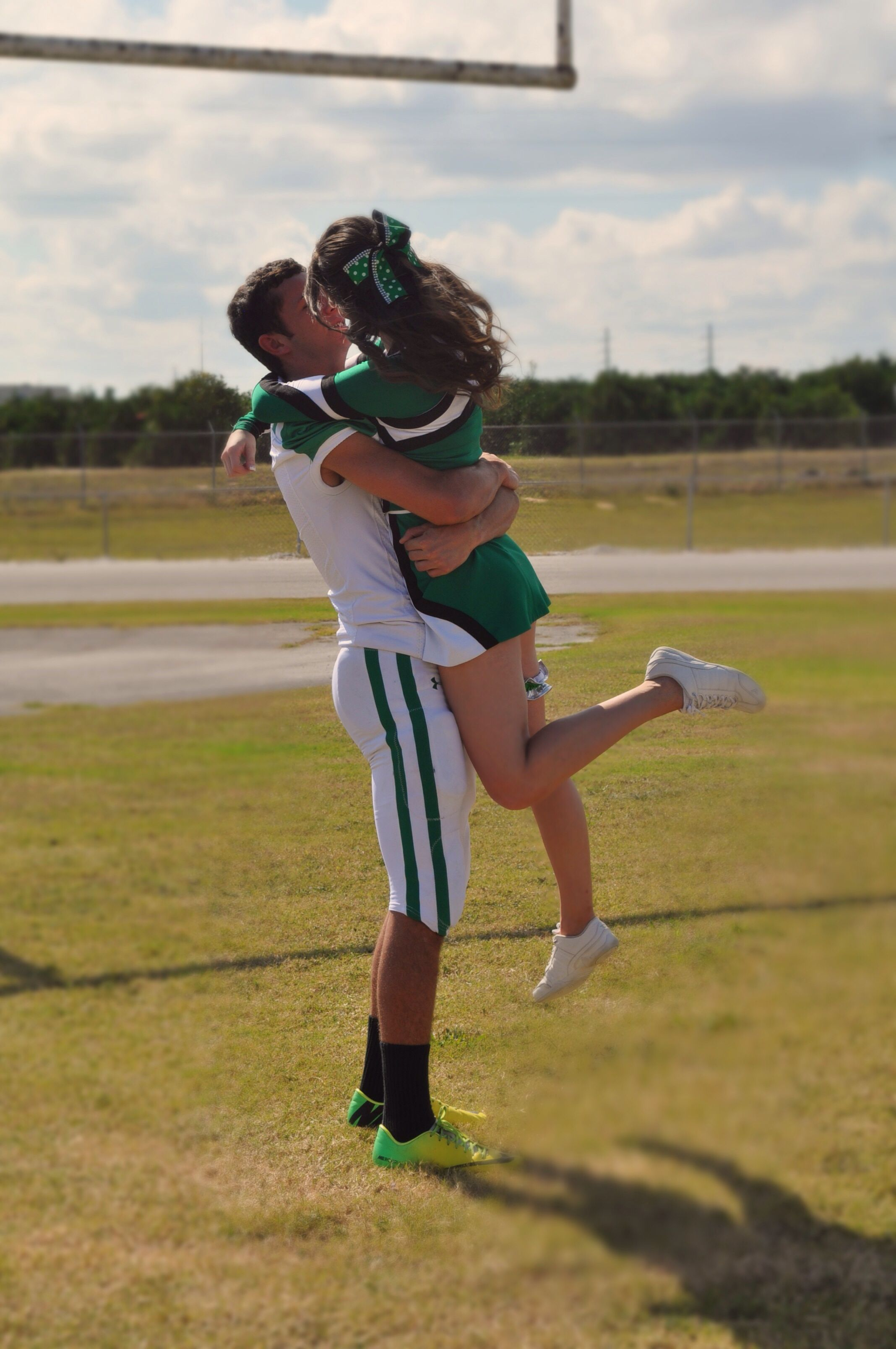 Jake & I's football/cheerleader pictures ...