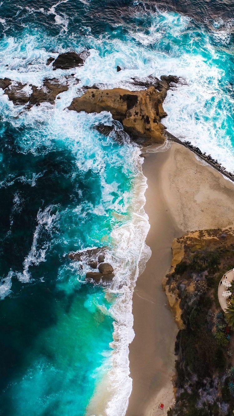 Pin By Brendan Brooks On E The Setting Beach Wallpaper Landscape Photography Beach Ocean Wallpaper Wallpaper drone photo sea rocks coast