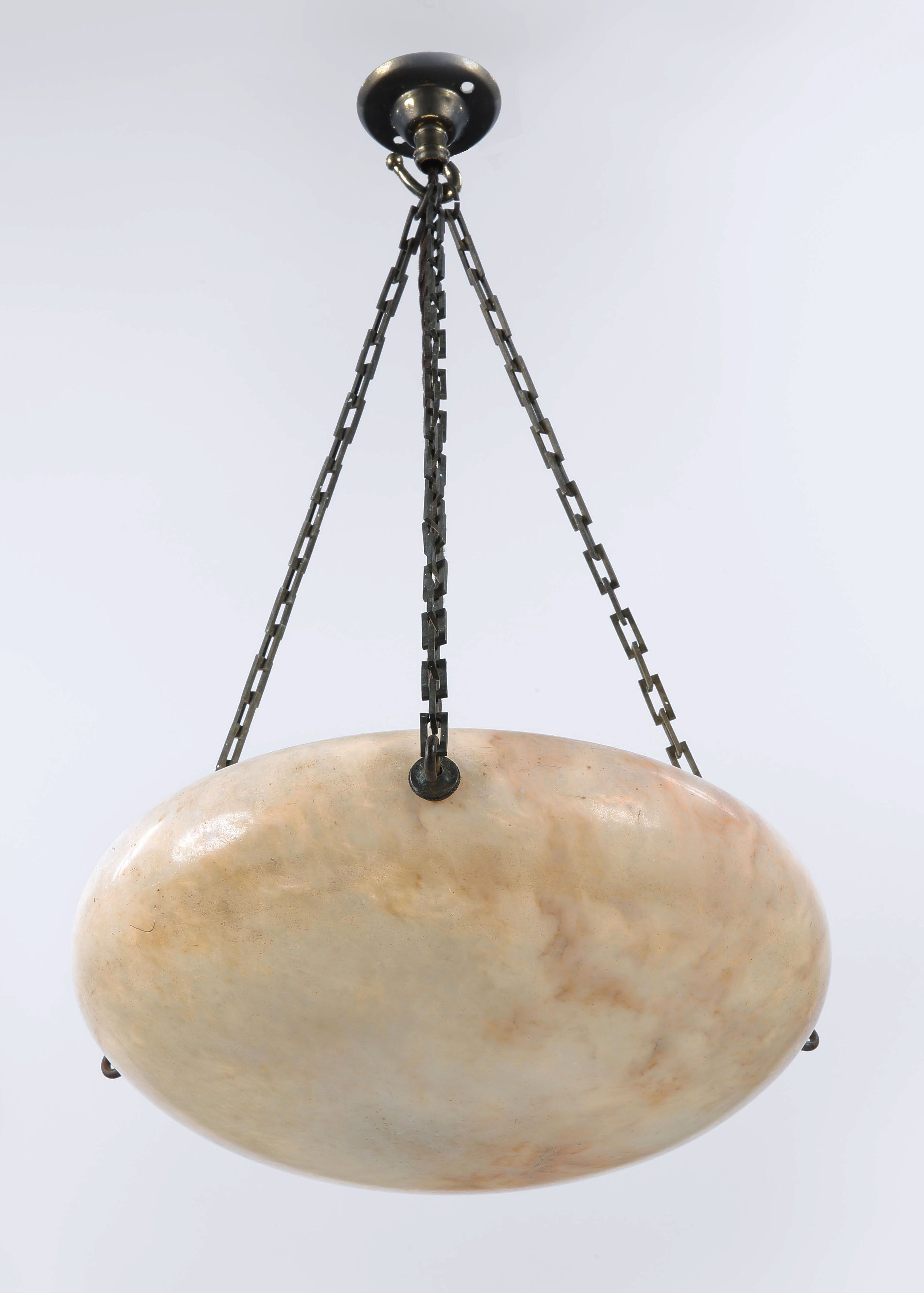 degu suspension opalescent degue and metal period moulded ceiling art glass light hexagonal ceilings deco