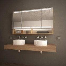 Holz Spiegelschrank Fur Das Bad Armario Shelves Bathroom Vanity