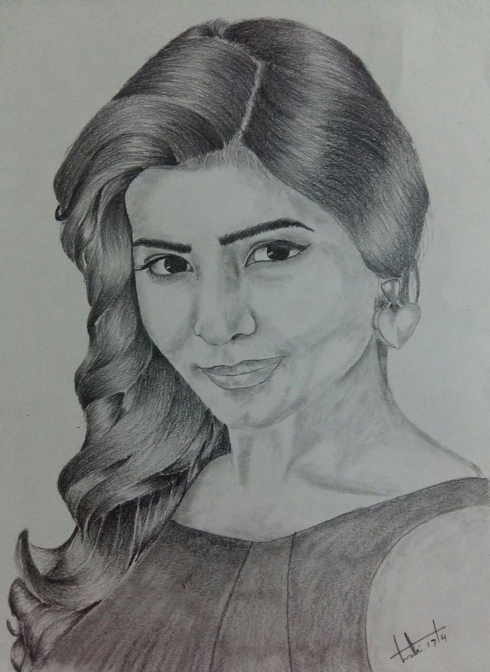 Samantha Pencil Sketch