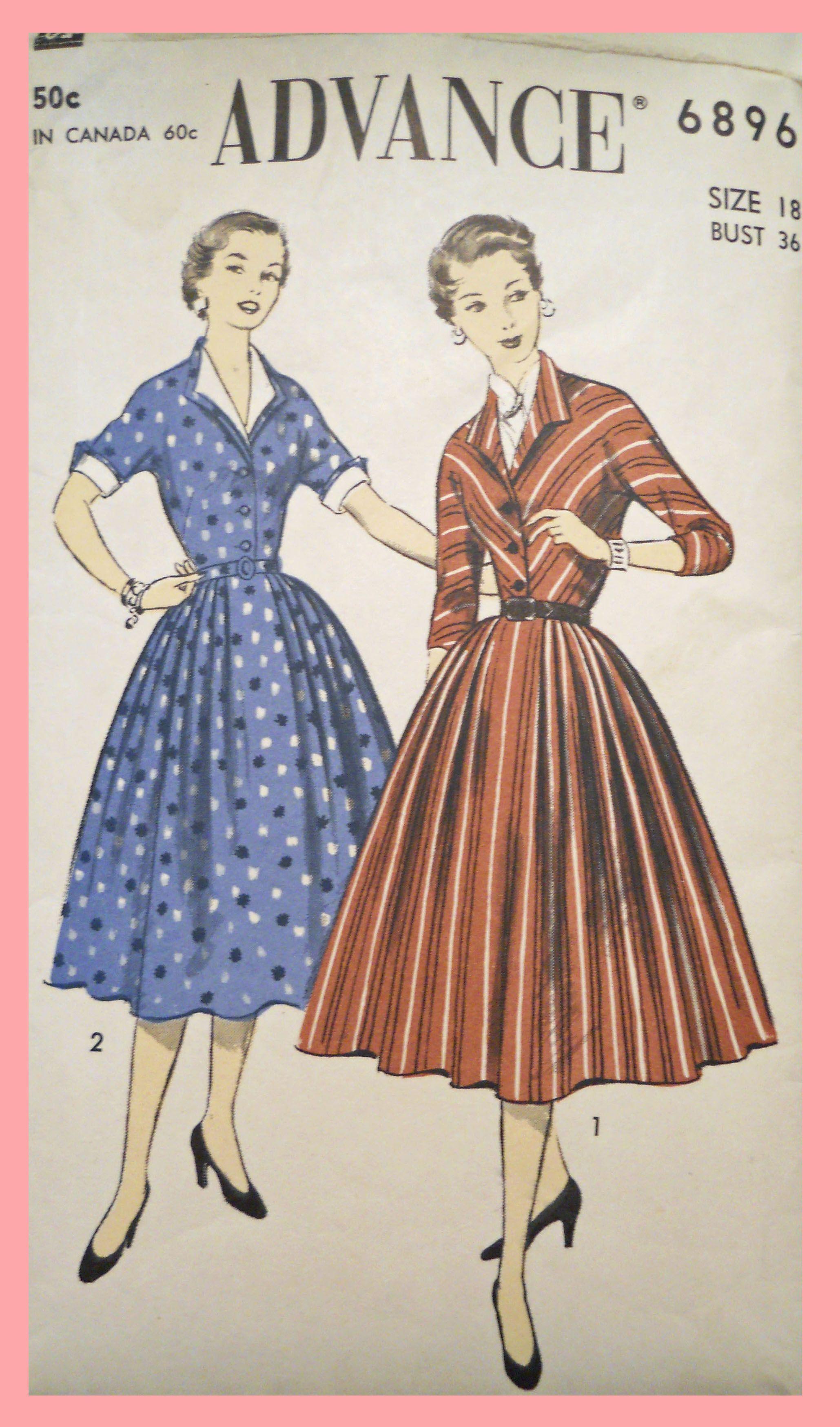 1950s dress patterns - Google Search | 1950s patterns | Pinterest