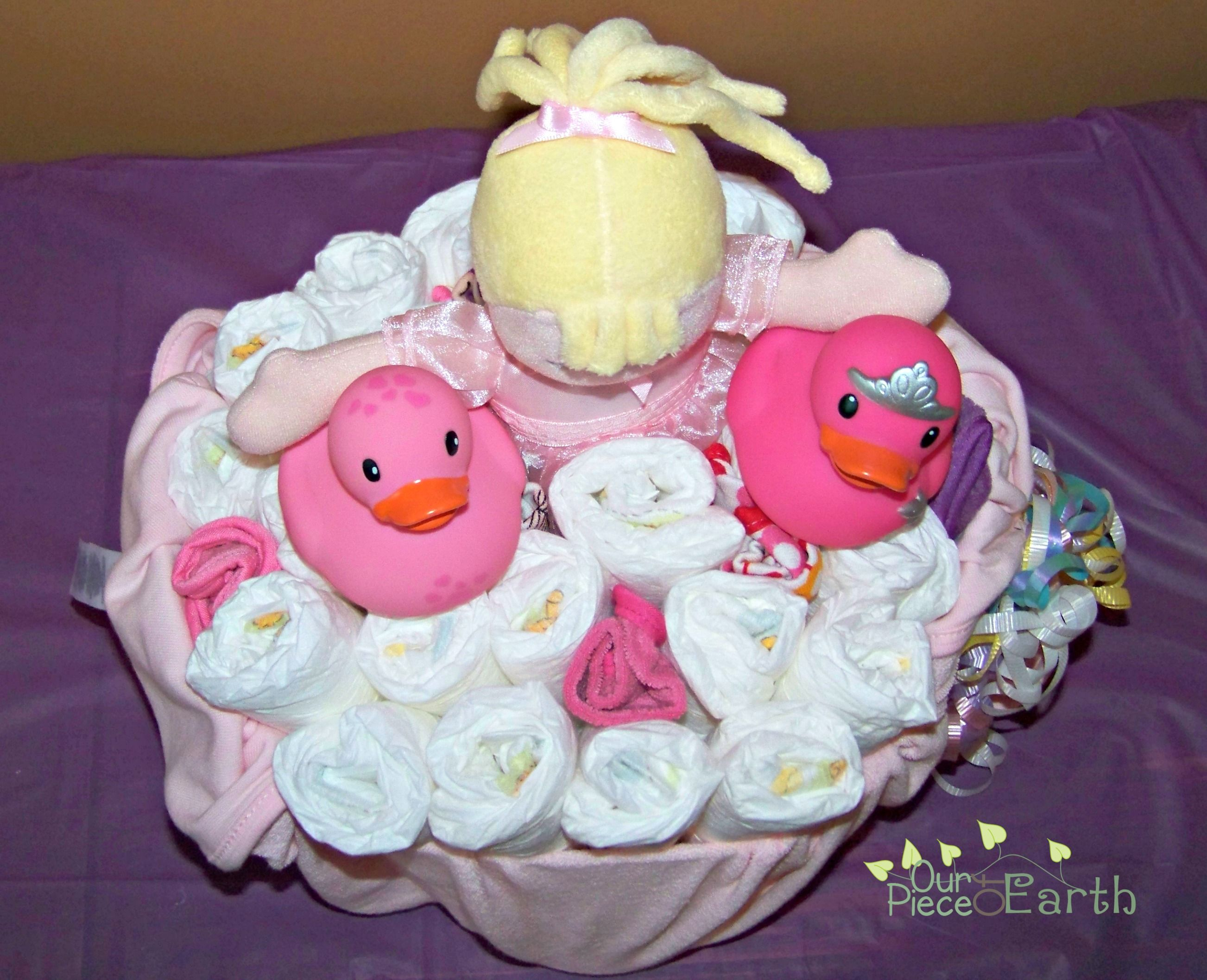 Make Diapers the Best Gift of All with This Baby Bath Diaper Gift Basket - Our Piece of Earth