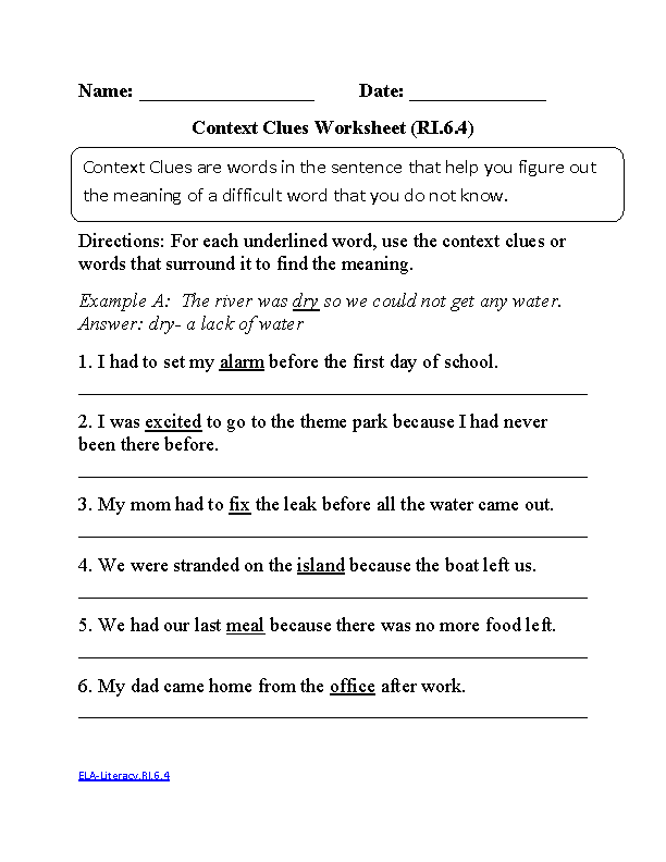 6th Grade Common Core | Reading Informational Text Worksheets | ELA ...