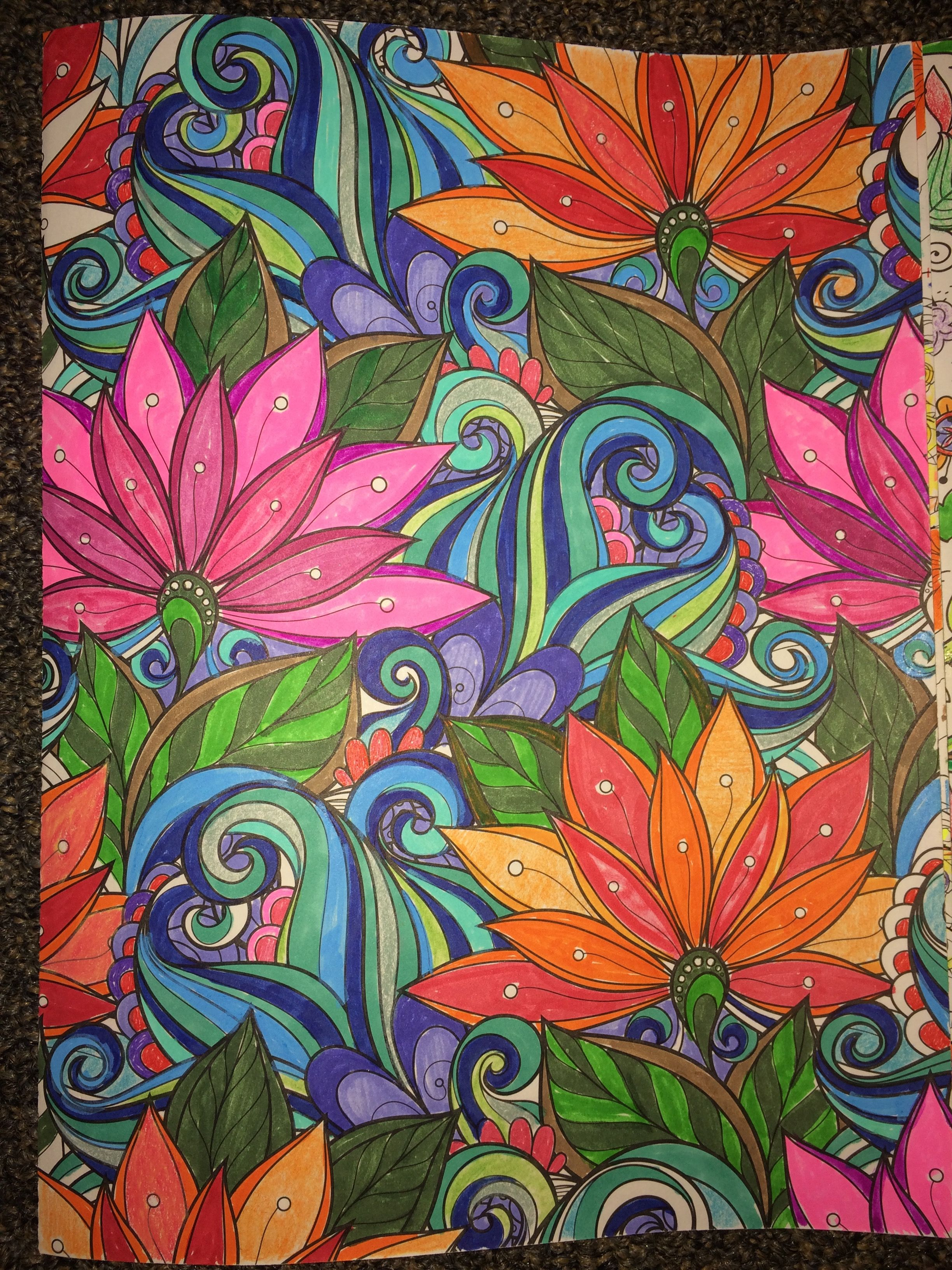 From Floral Wonders Color Art for Everyone  Colorful art