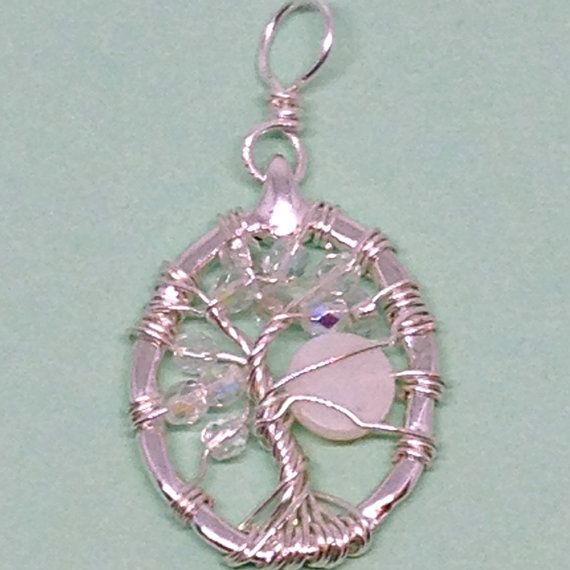 Silver tree of life wire wrapped pendant with by DonnaDStore   Etsy ...