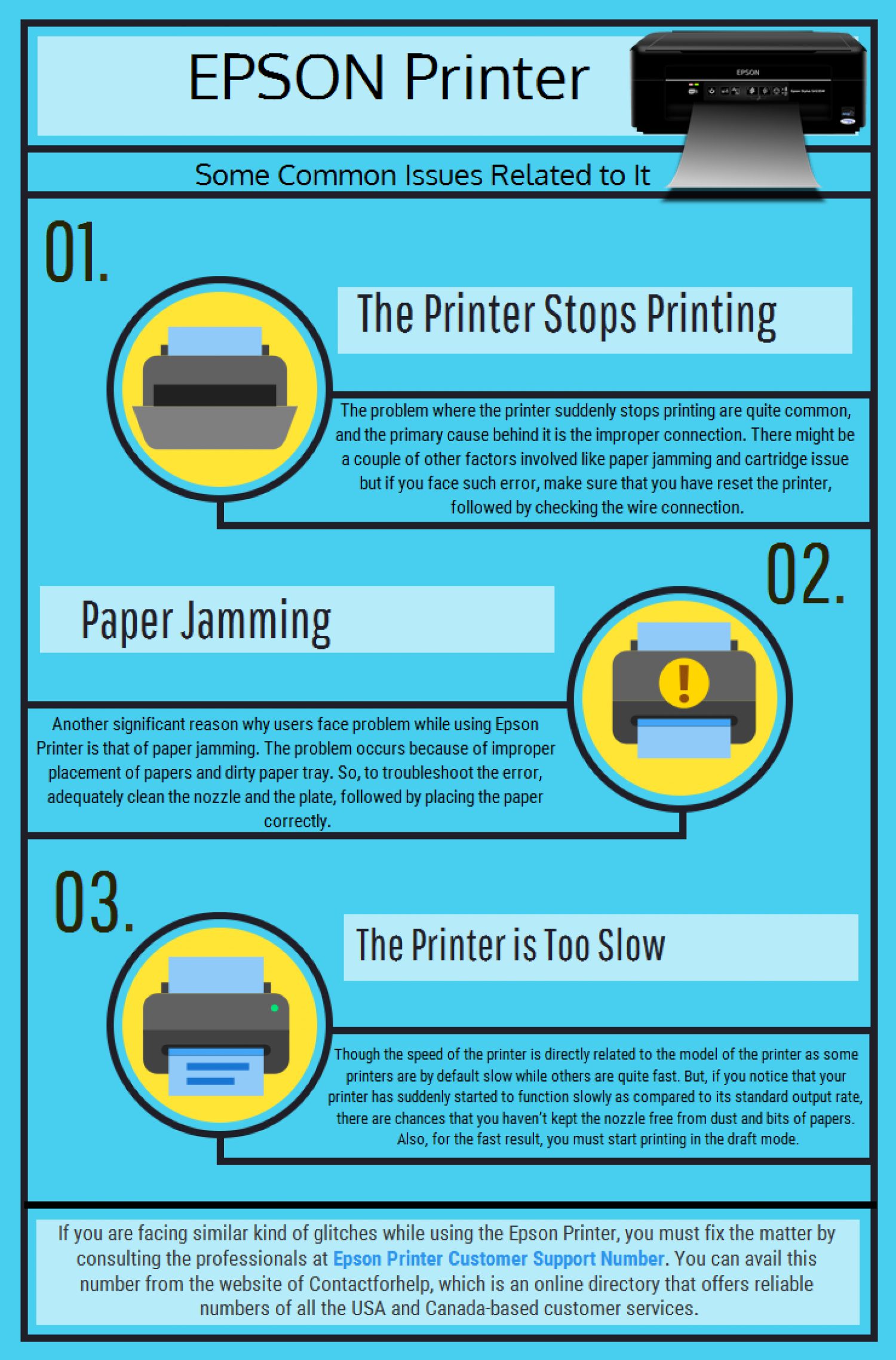 Common Glitches of Epson Printer Infographic Epson