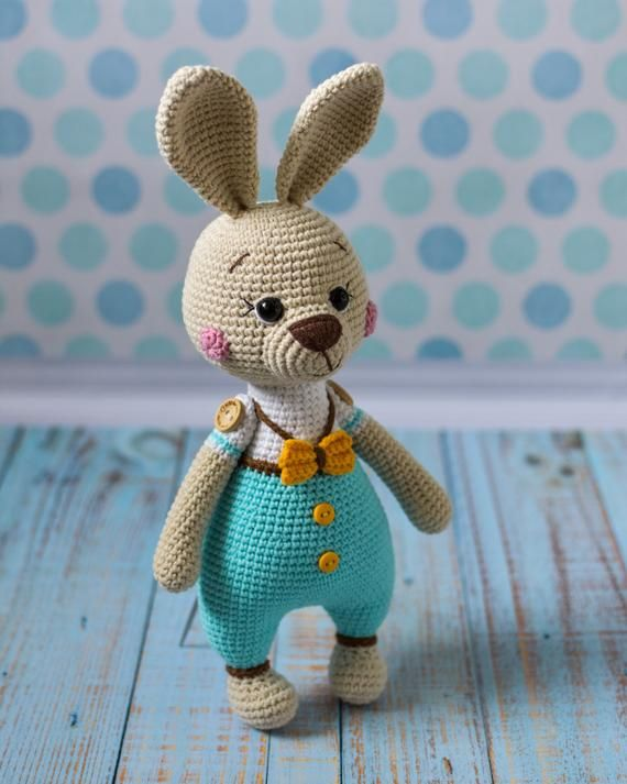 Crochet PATTERN Easter bunny Amigurumi toy Amigurumi Pattern Crochet bunny Handmade toy Pattern in English Pattern PDF Easter bunny pattern #handmadetoys