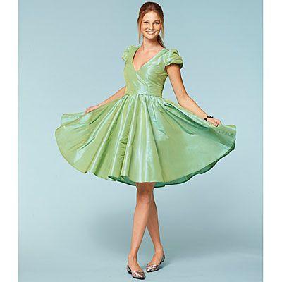 144b06979 Vestido de los años 50 / Falda campana, Burda 7556 - Ropa para días ...