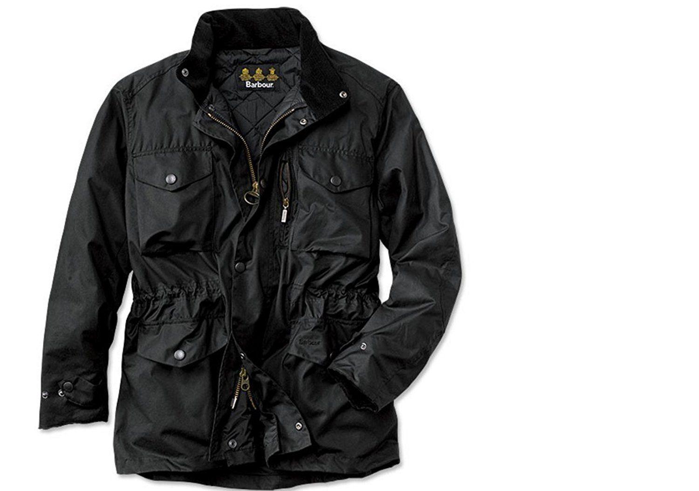51c09605039 Barbour Sapper Men s Waxed Cotton Jacket - Black at Amazon Men s Clothing  store