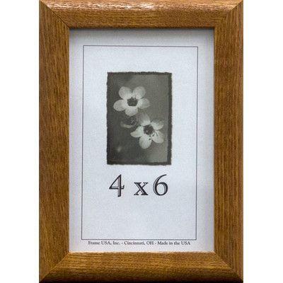"Frame USA Economy Picture Frame Finish: Honey, Size: 4"" x 6"""