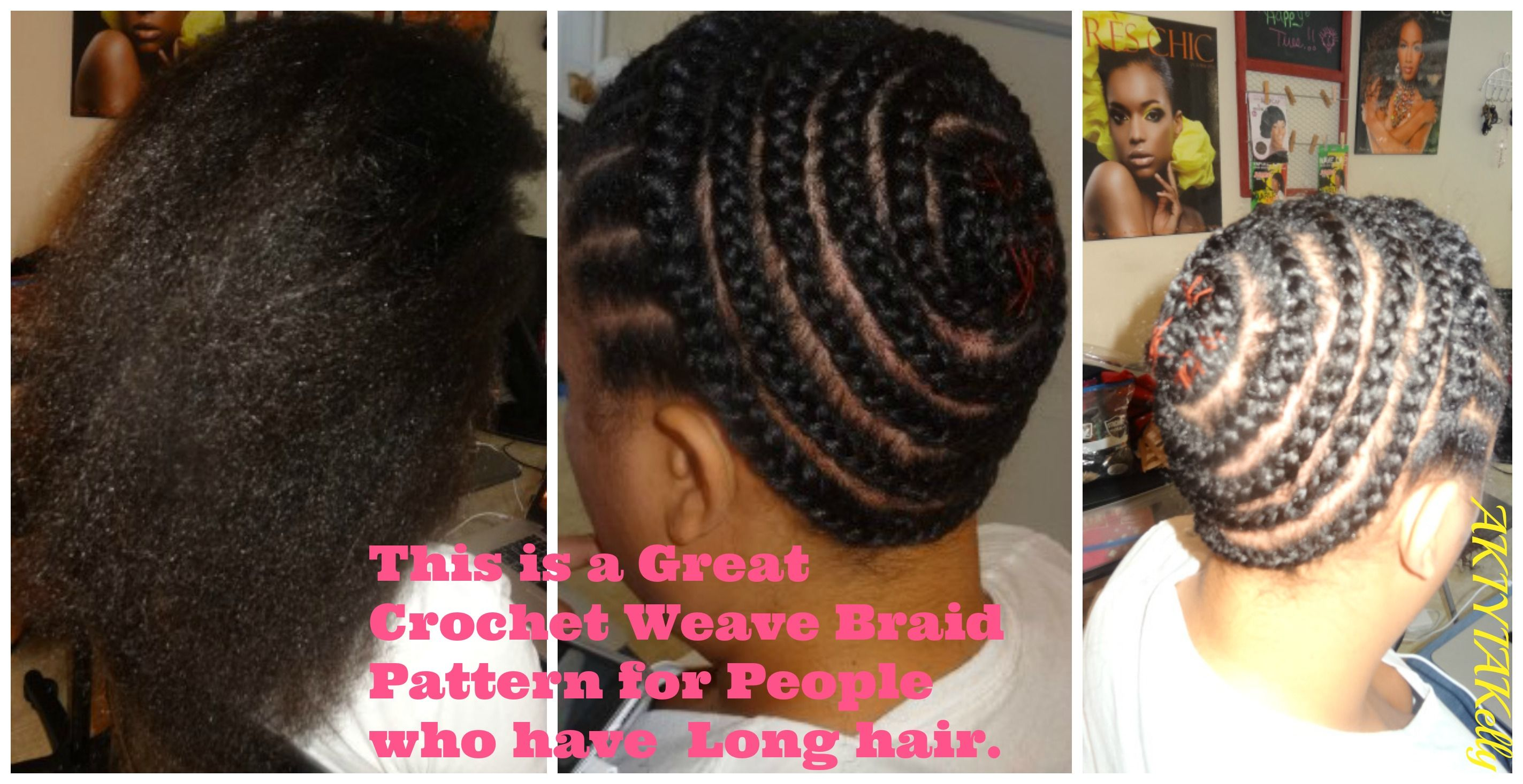 This is a Great Braid Pattern for a Sew In Weave or ...