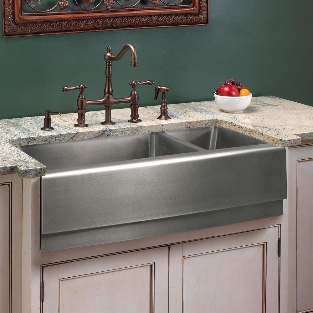 33in stainless steel farmhouse sink. I will have this sink