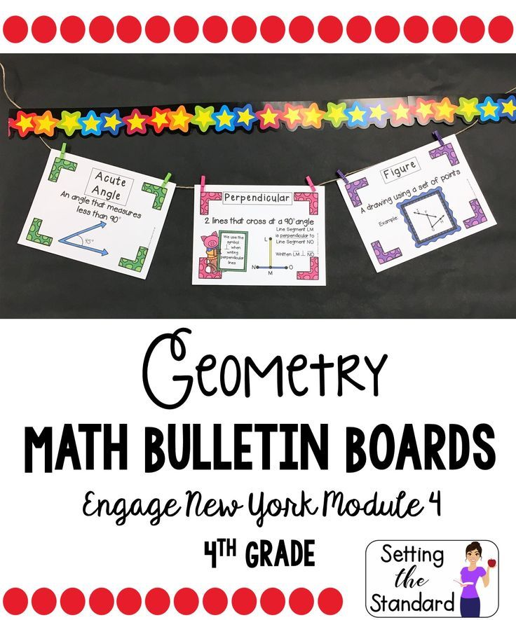 Math Vocabulary Posters 4th Grade- Engage New York Module 4 ***TpT