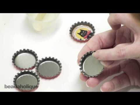 How to Make Bottle Cap Jewelry Using Resin