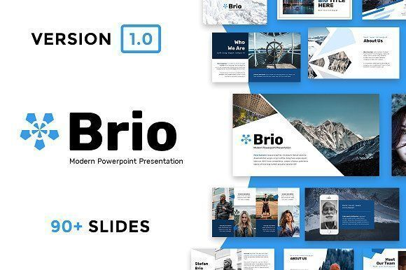 brio business powerpoint template by reshapely on creativemarket