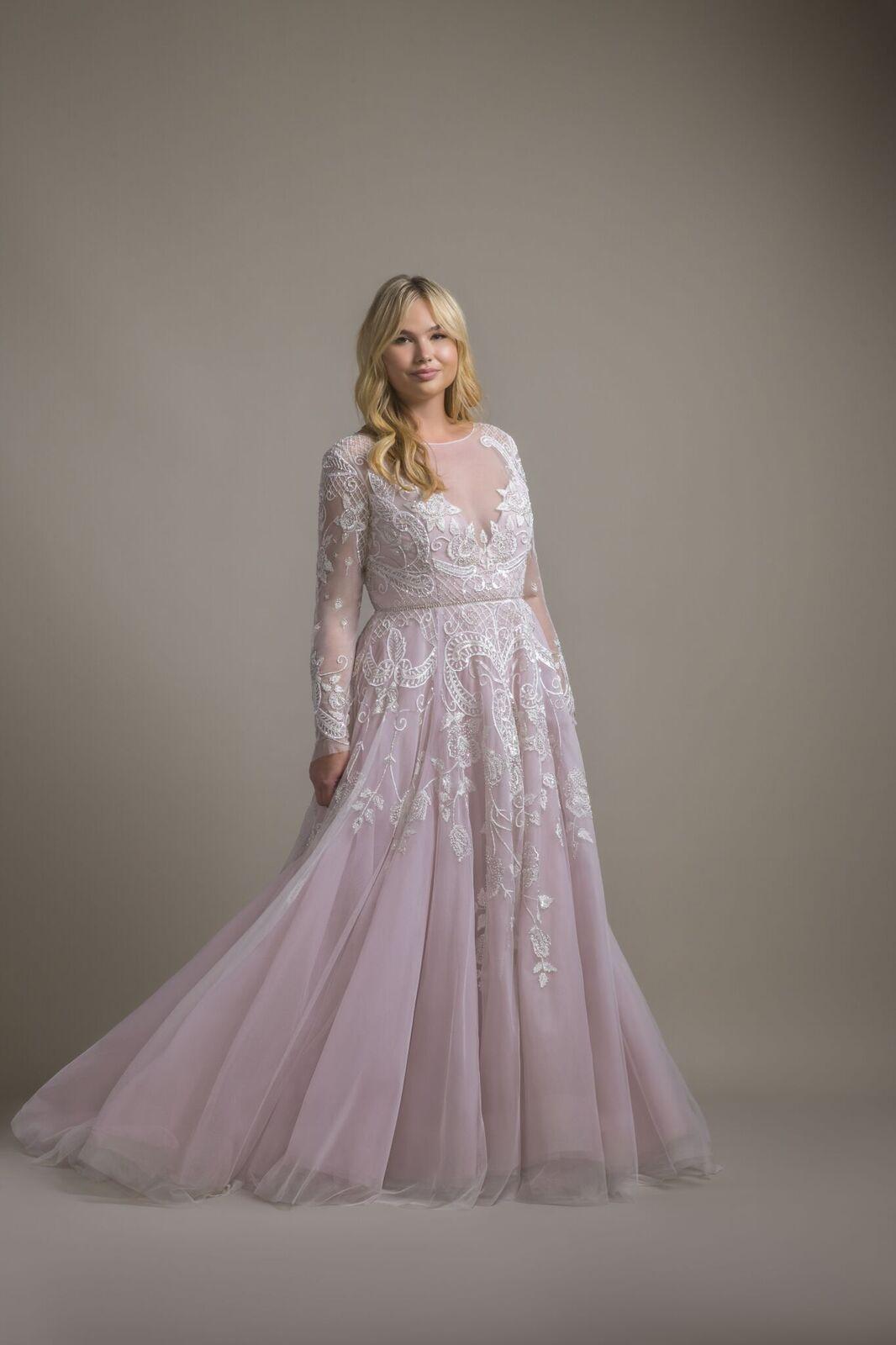 Hayley Hayley Paige Bridal Gown Amethyst Long Sleeve Rococo Bridal Gow Plus Wedding Dresses Plus Size Bridal Dresses Plus Size Wedding Dresses With Sleeves [ 1600 x 1066 Pixel ]