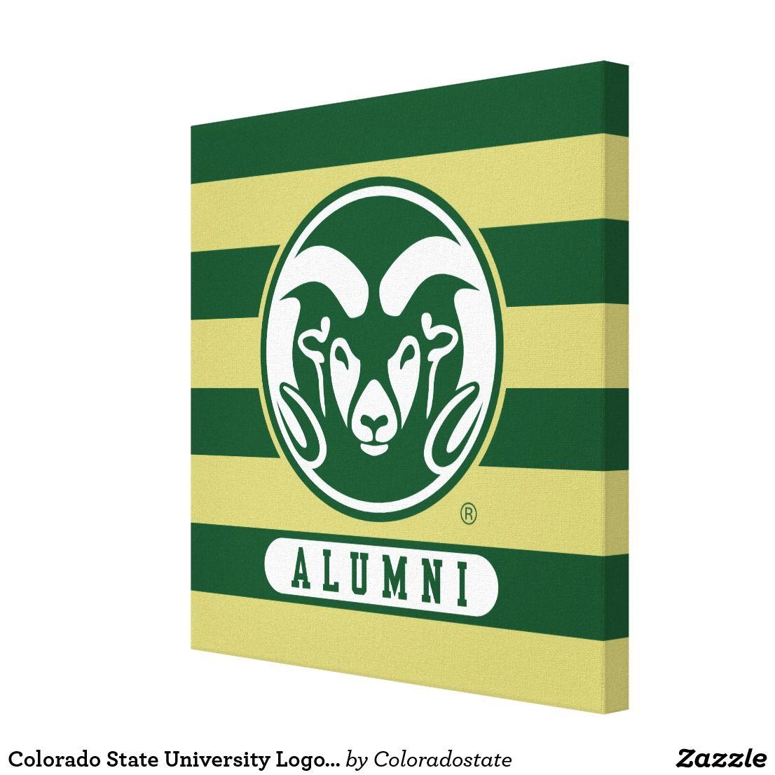 Colorado State University Logo Alumni Stripes Canvas Print