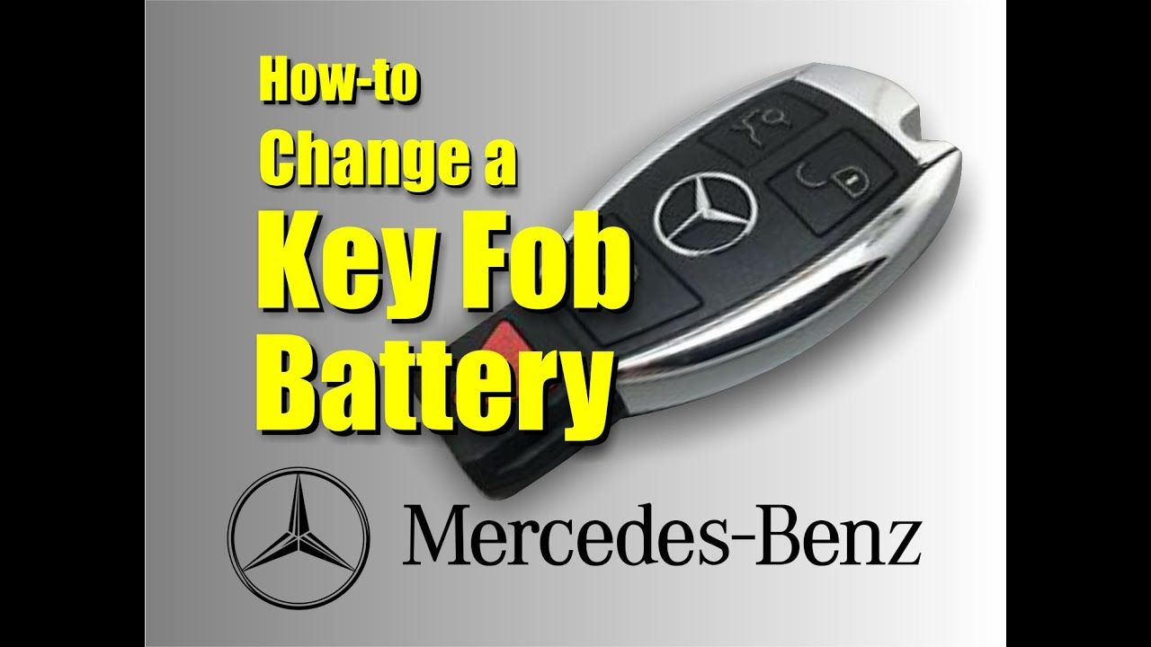 How to change a mercedes key fob battery in 2020