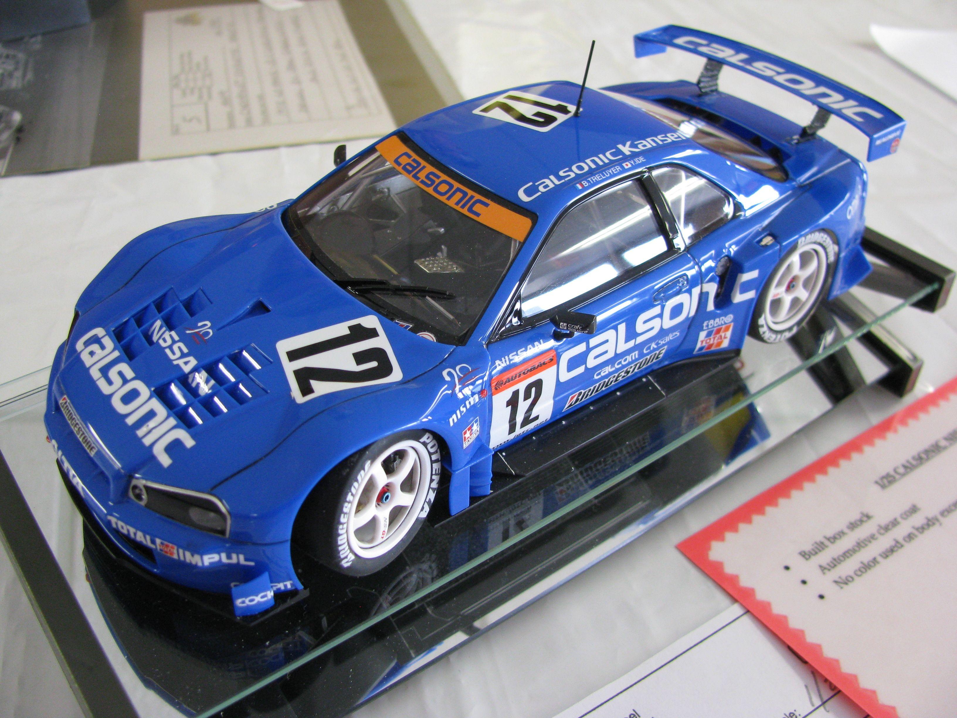 Nissan R-34 Skyline JGTC 1:25 scale Tamiya model As driven ...